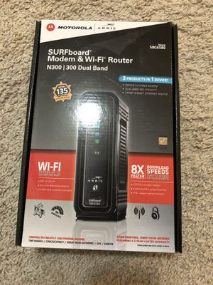 Motorola cable modem & WiFi Router SBG6580 for Sale in Dublin, OH