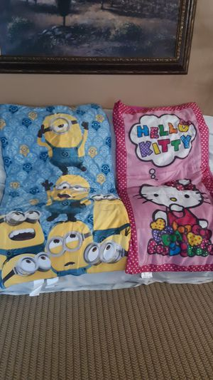 MINIONS AND HELLO KITTY SLEEPING BAGS!!! for Sale in Ontario, CA