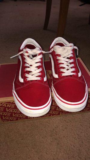 Red Vans (Size 10) for Sale in San Antonio, TX