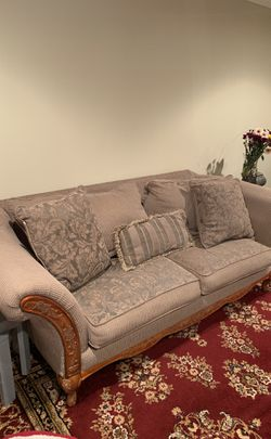 4 Couches/3 tables - living room - fabric for Sale in Southfield,  MI