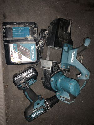 Makita 18v Lxt band saw and drill for Sale in Tacoma, WA