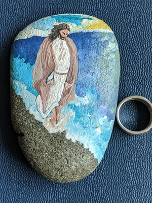 By the beach stone art: A moment of reflection. for Sale in Junction City, OR