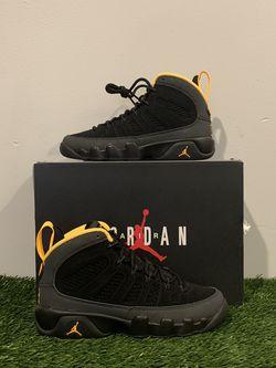 Jordan 9 Dark Charcoal University Gold Size 3.5Y for Sale in Atlanta,  GA