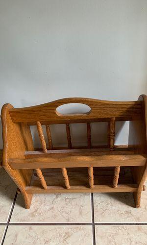 Wood magazine rack for Sale in Mountlake Terrace, WA