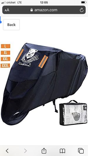 ClawsCover 104 Inch XXL Motorcycle Cover Waterproof Outdoor All Season UV Protection Scooter Bike Covers Accessories with Lock Hole & Storage Bag for for Sale in Montebello, CA