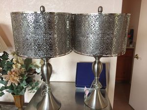 All metal laced table lamps for Sale in San Diego, CA