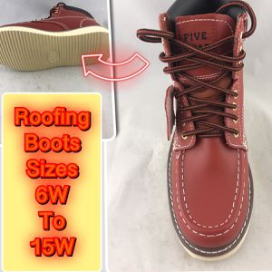 Roofing Men's Nu Buck Leather Work/Safety Boots Sizes 6,6.5,7,7.5,8,8.5,9,9.5,10,10.5,11,11.5,12,14,14,15 All boots are wide width runs like a hal for Sale in Tinton Falls, NJ