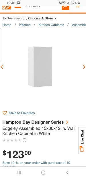 Hampton bay 15 inch kitchen cabinet for Sale in Cleveland, OH