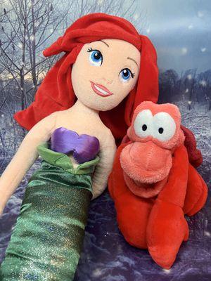 Disney The little Mermaid Ariel & Sebastian Plush set for Sale in Bellflower, CA
