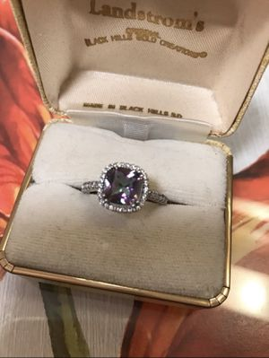 925 Sterling Silver Rainbows Topaz CZ Size 8 for Sale in Baltimore, MD