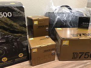 Nikon D7500 DSLR Camera 2 lens Bundle for Sale in Portland, OR