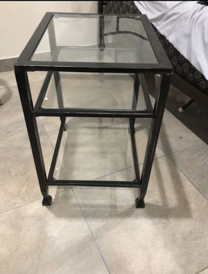 2 matching metal and glass end tables for Sale in Fort Lauderdale, FL