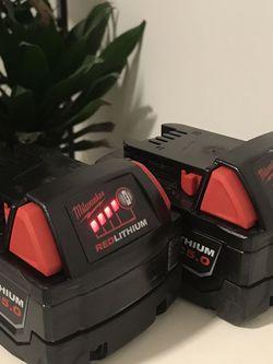 2x 5.0Ah Milwaukee Batteries 🔋 for Sale in Seattle,  WA