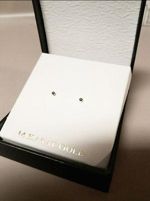 New 14k White Gold 3mm Ball Stud Earrings for Sale in Prairieville, LA