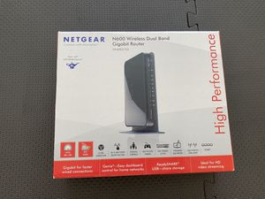 Netgear N600wireless dual band gigabit router( High performance ) for Sale in Thornton, CO