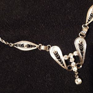 Sterling silver art Deco inspired Necklace for Sale in Peoria, IL
