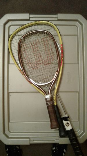 Three (Tennis, Racquetball, and Badminton) Rackets for Sale in Las Vegas, NV