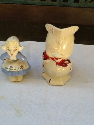 Antique doll figurine and flower vase $25.00 both for Sale in La Mirada, CA
