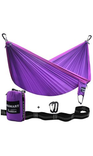 Double Hammock with Two Tree Straps & Carabiners, 600lbs for Sale in Plantation, FL
