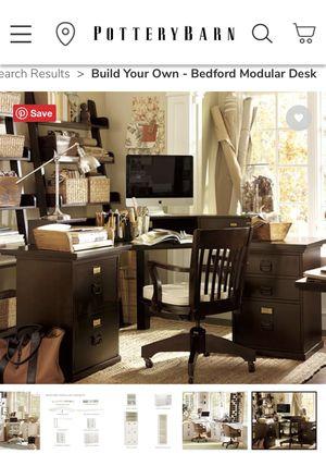 Pottery Barn Bedford corner desk and hutch - espresso for Sale in San Diego, CA