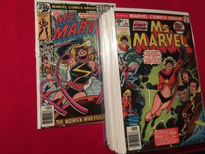 Marvel comics Ms Marvel 1-23 Average condition VF- NM for Sale in Seattle, WA