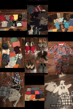 BABY BOY CLOTHES 9month 12month 18 month and size 5 shoes FULL PACKAGE $45 for Sale in Irving, TX