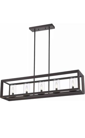 Emliviar 5 Light Pendant Kitchen Island Lights, Bronze for Sale in Chicago, IL