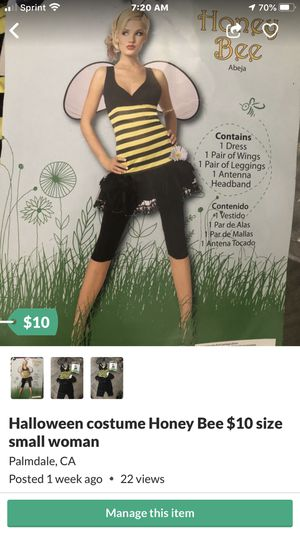 Halloween costume Honey bee $10. New for Sale in Palmdale, CA