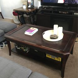 Espresso Brown Rectangular Coffee Table for Sale in Edgewood,  FL