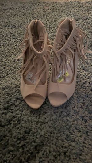 Tan fringe heels for Sale in Aberdeen, NC