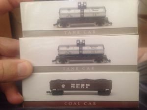 3 N Scale Southern Pacific Train Cars by High Speed Metal Products- 2. Tank Cars & 1 Coal Car for Sale for sale  Cañon City, CO