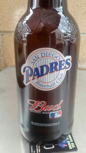 BUDWEISER COLLECTIBLE GLASS BOTTLE . ( ALSO PLENTY OF NEON SIGNS / LIGHTS AVAILABLE FOR SALE ) DODGERS BOBBLEHEADS AVAILABLE for Sale in Los Angeles, CA