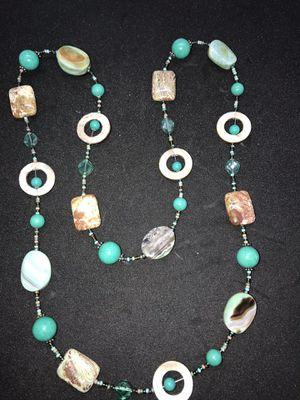 Beautiful natural ocean stone jasper necklace for Sale in San Jose, CA