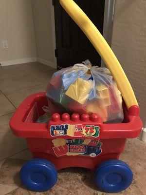 Mega Blok Wagon and Bloks for Sale in Peoria, AZ