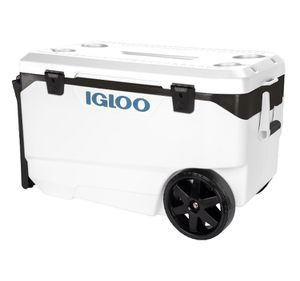 Brand New ! Special IGLOO cooler HOLD 5 Days with special wheels ! Igloo Flip And Tow 90qt Cooler ! White Wheeled Cooler ! for Sale in Chino Hills, CA
