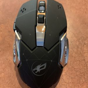 Wireless Gaming Mouse with Unique Silent Click, Breathing Backlight, 2 Side Buttons, (2400, 1600, 1200, 800) DPI, Ergonomic Handle, 6 Buttons for Sale in Colton, CA