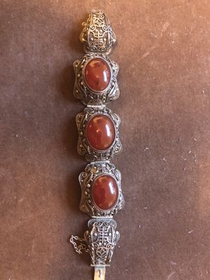 100% Authentic Carnelian Chinese silver bracelet for Sale in Los Angeles, CA