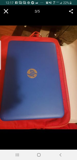 Hp blue mini laptop for Sale in Irvington, NJ