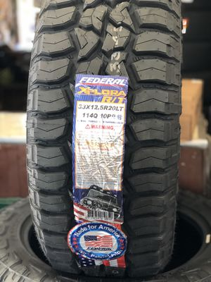 33X12.50R20 FOUR BRAND NEW TIRES , INSTALLATION & BALANCING INCLUDED for Sale in Rialto, CA