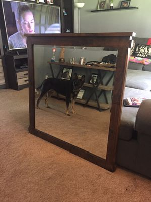 "Darvin Furniture ""Rustic Walnut"" Framed Mirror. for Sale in Lockport, IL"
