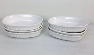 Lot 6 Corning Ware French White 15 OZ Individual Casserole Baking Oval Dishes for Sale in St. Charles, IL