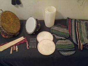 Nagara Drums Profesional Set with bags sticks heads parts extras for Sale in Chicago, IL