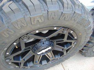 20X9 Satin Black WORX Clash Rims & LT 33 12.50 20 RDR M/T Tires*6 LUG* for Sale in Aurora, CO