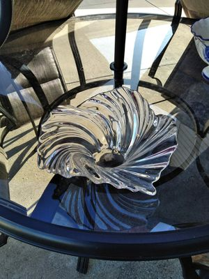 Beautiful large glass decorative bowl for Sale in Alsip, IL