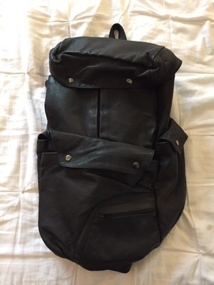 Black leather Backpack $20 for Sale in Los Angeles, CA