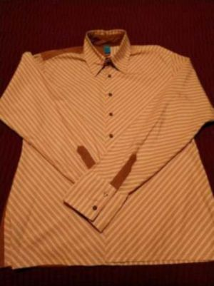 Patched Long Sleeve Button Casual Shirt for Sale in Girard, KS