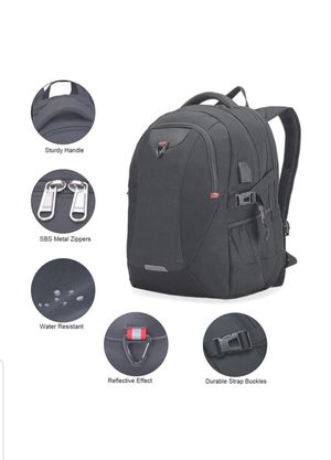 Extra Large Laptop Backpack Travel Computer Backpack with USB Charging Port New for Sale in Silver Spring, MD