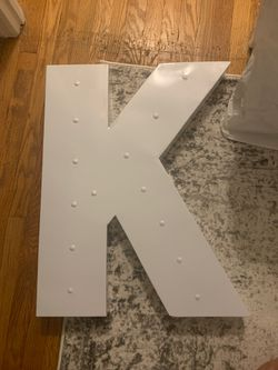 Wall Art - Metal Letter K for Sale in Clifton,  NJ