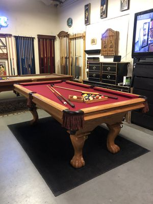 Elegant 7' Pool Table - Brand New Felt - Can Deliver! for Sale in Covina, CA