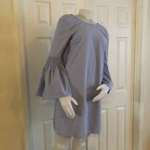 Atmosphere Blue Ruffle Sleeve Dress 6 for Sale in Princeton, NJ